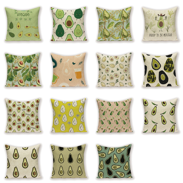 Avocado Print Cushion Cover