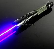 цена на High power mw Blue laser pointer 500000m 450nm Flashlight Camping Signal Lamp Burning match/Burn light cigars/candle/black Hunti
