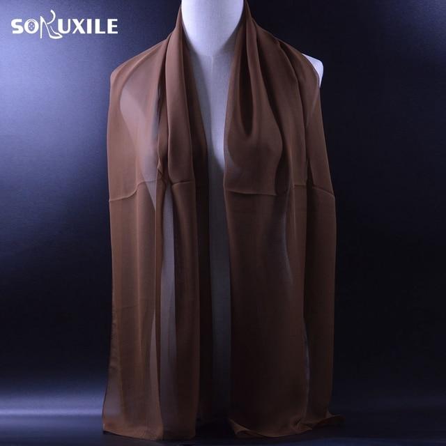 SOKUXILE bufanda sólida clásica para mujer Primavera Verano chal fino envolver de la India Nuevo 2018 bufandas de seda suave para mujer Hijab
