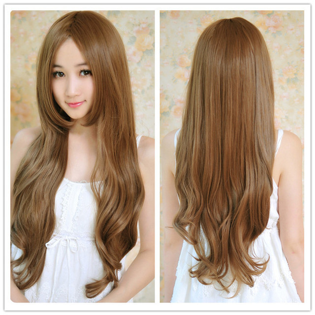 2015 Womens Girls Fashion Wavy Curly Long Hair Wigs Sexy Synthetic