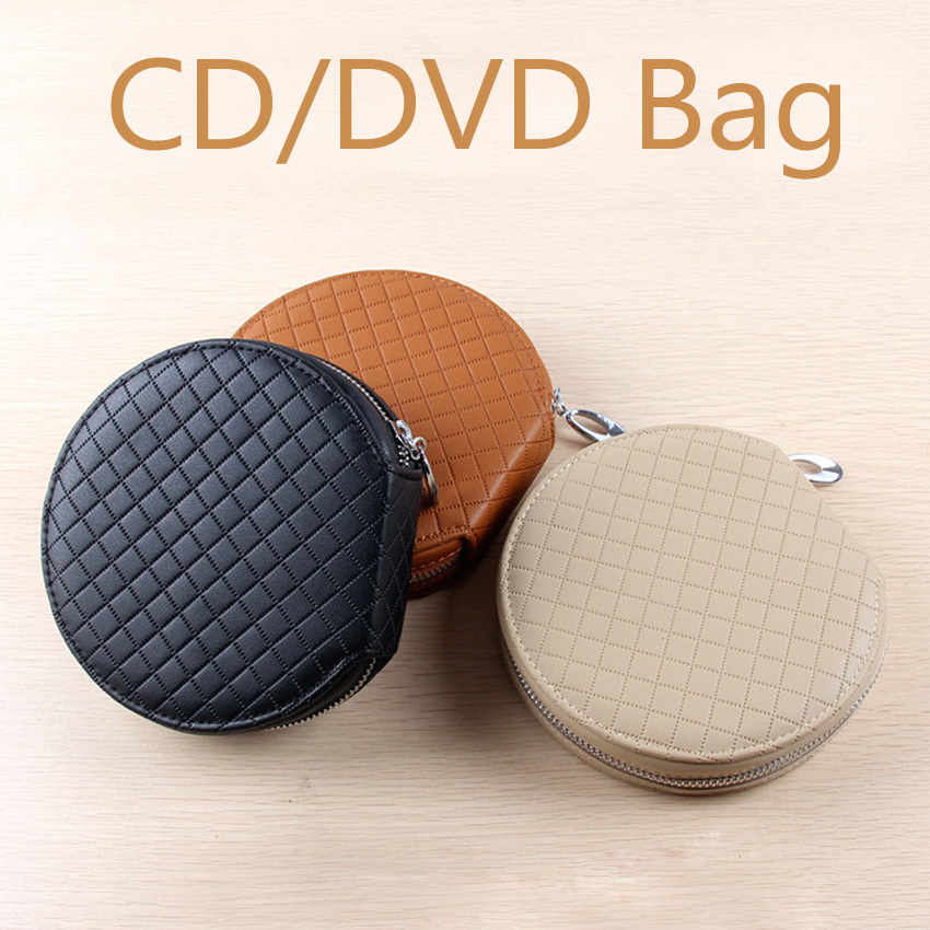Latest 20 piece Disc DVD VCD DJ Storage Leather Wallet Album Bag Hard Box Double PU storage cd bag case ...