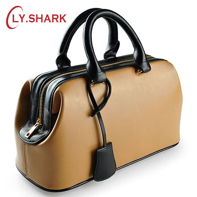 LY.SHARK  Famous Brand Women Handbag Genuine Leather Bag Female Purses And Handbags Ladies Luxury Designer Tote Bag sac a main chispaulo women genuine leather handbags cowhide patent famous brands designer handbags high quality tote bag bolsa tassel c165