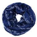 Marinha bule Notas Musicais Infinito inverno Cachecol Mulheres xales e cachecóis foulard bufandas mujer de música 2015 lenços echarpes femme