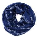 Navy bule Notas Musicales Infinito invierno Bufanda Mujeres chales y bufandas foulard bufandas mujer 2015 echarpes de música fulares femme