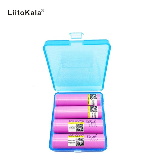 Liitokala 4PCS New 100% Original ForSamsung ICR 18650 26FM  Li ion 3.7 V rechargeable battery