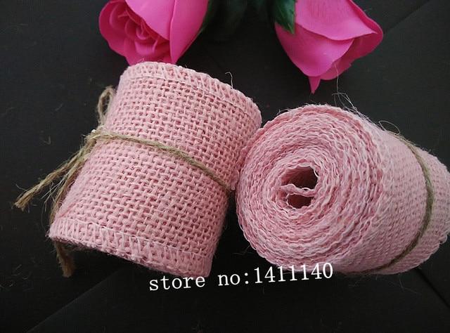 Licht Roze Stoel : Licht roze kleur natuurlijke jute jute hessische lint versieringen