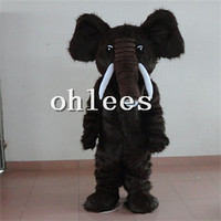Ohlees In Store Plush Elephants Mascot Costume Halloween Christmas Birthday Props Costumes For Adult Cartoon Animal