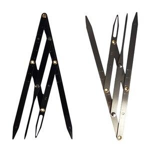 Image 2 - 1pc גבות שליט זהב יחס Caliper Microblading אביזרי גבות שבלונות קעקוע Meaure כלים איפור הקבוע
