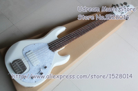 High Quality China OEM White Glossy Finish Suneye Music Man Electric Bass Guitar 5 String Active Pickup For Sale