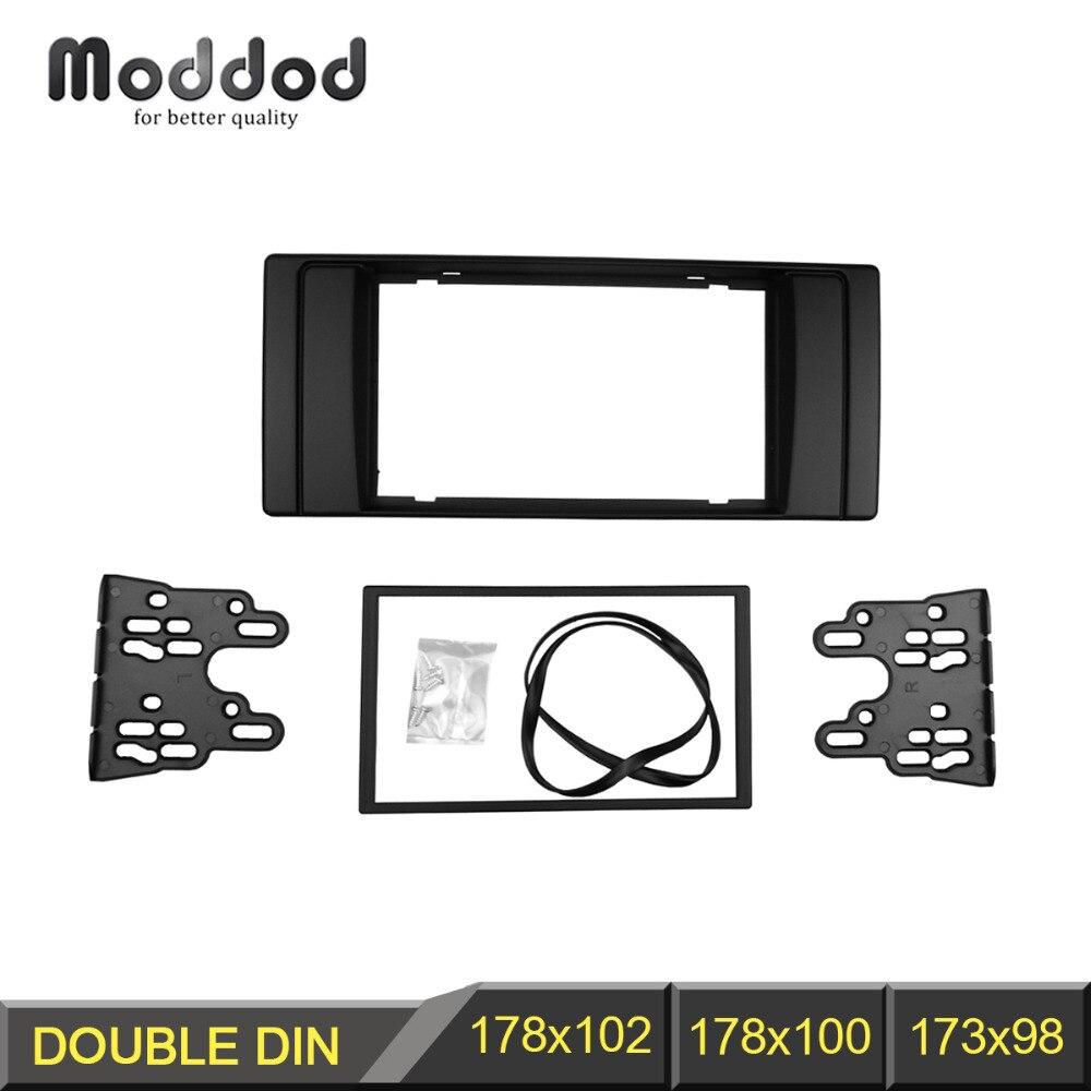 все цены на Double Din Fascia for BMW Series 5 E53 E39 Radio CD DVD GPS Stereo Panel Dash Mount Trim Kit Interface Frame онлайн