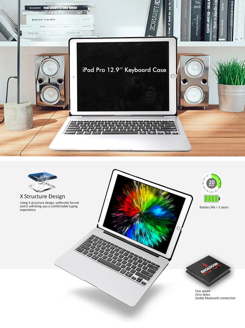 ipad pro12.9 keyboard case (8)
