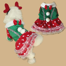 Pet Dog Clothes Christmas Dress For Dog Clothing Cat Dress Princess Warm Winter Coat For Small Animals Puppy Chihuahua Yorkshire