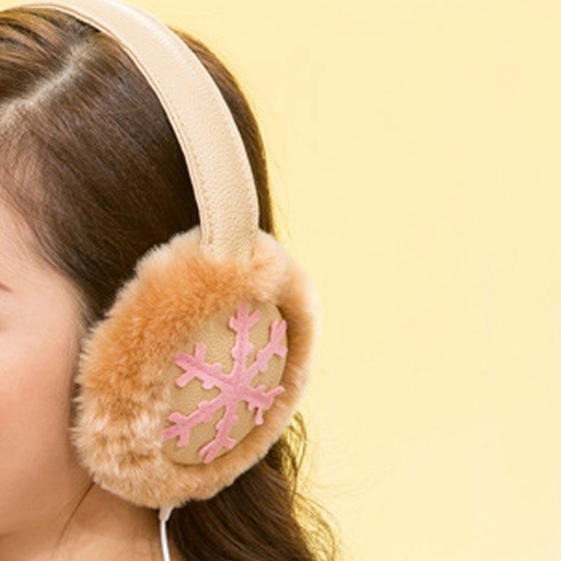 Top Sell Women Fashion Winter Music Earmuff Headphones Fur Plush Warm Earmuffs Music Earphones Protector Fur Warmers