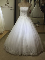 PoemsSongs High Quality Custom Made Lace Appliques Off The Shoulder Wedding Dresses Vestido De Noiva Brides