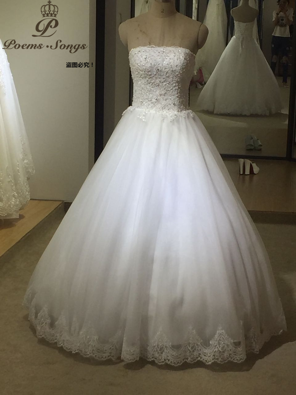 PoemsSongs High Quality Custom Made Lace Appliques Off The Shoulder Wedding Dresses Vestido De Noiva Brides