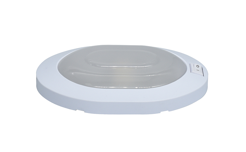 4W LED Ceiling Dome Light Plastic Oval Ceiling Lamp for 12V Marine Boat Motorhome Accessories-in RV Parts & Accessories from Automobiles & Motorcycles