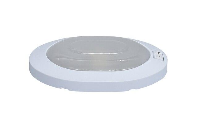 4W LED sufitowe światło kopuły plastikowe owalne lampy sufitowe do 12V łódź morska akcesoria do samochodów kempingowych