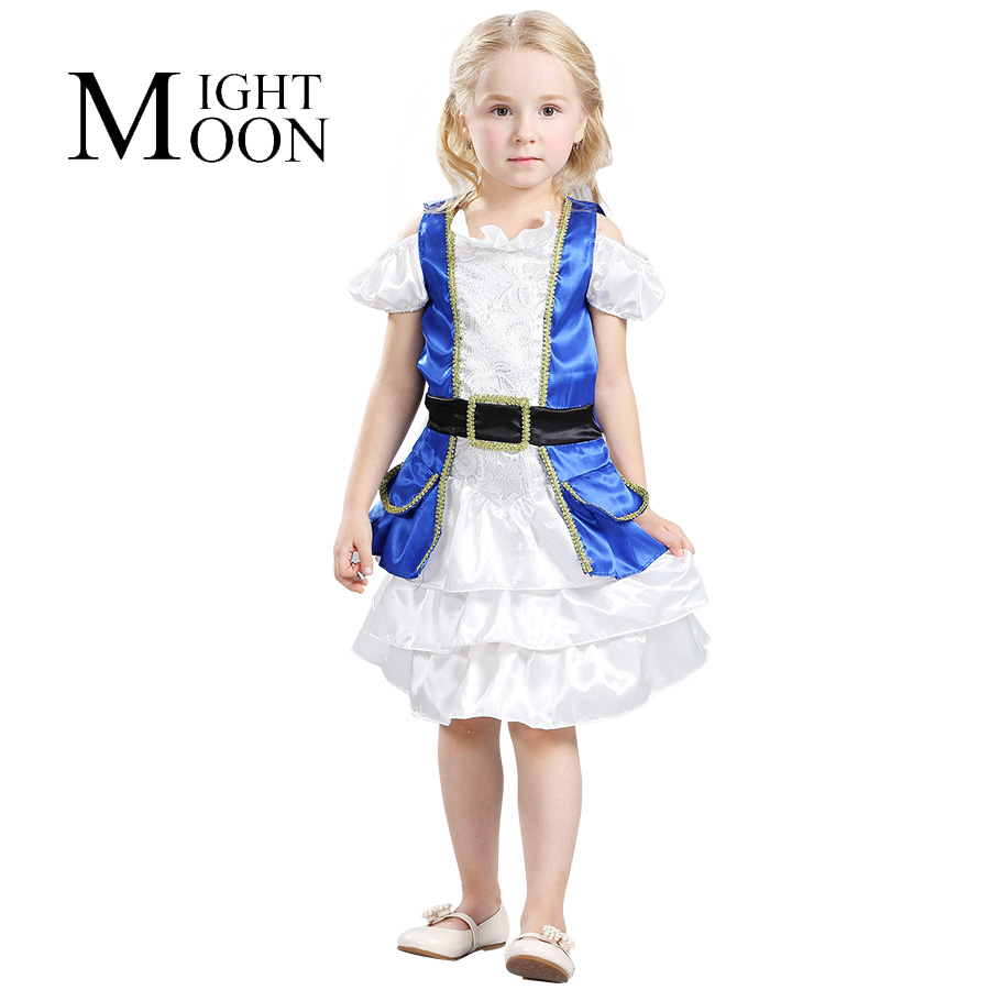 MOONIGHT New Arrive Girl Halloween Christmas Pirate Costumes Girls Party Cosplay Costume Set For Children Kids