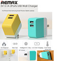 Remax US Plug Universal 5V 2.1A 1A 100 - 240V 3.1A 3 Ports USB Travel Wall USB Charger Adapter Tech For iPhone 5 6 7 6s Plus LG