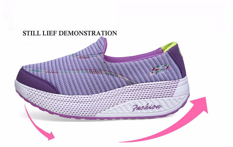 KUYUPP 2016 Autumn Platform Wedges Women Casual Shoes zapatos mujer Sport Breathable Low Top Trainers Flat Platform Shoes YD110 (10)