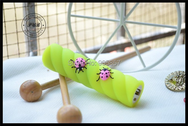 2600mAh Power Station External Rechargeable Backup Battery Pack Bank for phone cute coccinella septempunctata style 50pcs