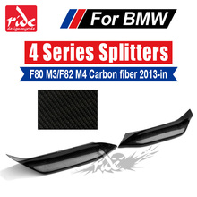 M3 F80 Car-Styling 2pcs Carbon Fiber Corner Splitter Up Style M-performance For BMW 4-Series F82 M4 F83 2013-18 420i 428i