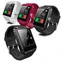 Inteligente relógio de pulso companheiro telefone u8 bluetooth v3.0 + edr para iphone ios para samsung android preto branco vermelho
