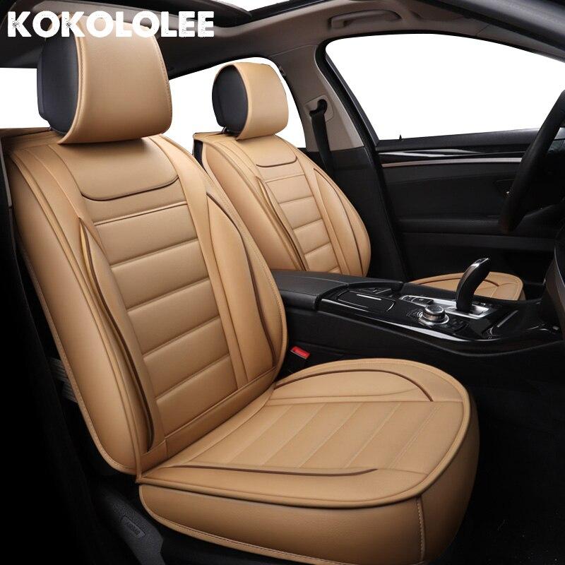 Housses de siège auto en cuir synthétique polyuréthane kokololee pour prado 120 hyundai tucson ix35 renault fluence rx570 pajero lancer housse de siège automobile