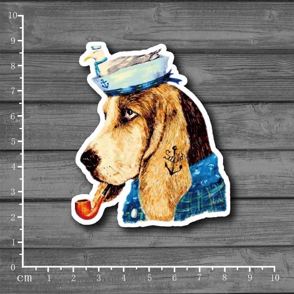סיילור כלב חמוד מכתבים מדבקה לdiy טלפון מטען Macbook על צעצוע ילד סקייטבורד עור מחשב נייד מקרר בית תפאורה [אחת]