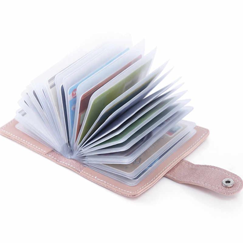 24Bit Slots Grote Capaciteit Nieuwe Visitekaartjes Tassen Vrouwen Mannen Anti-Magnetische Packs Bank ID Houders Kaarthouder Sets gratis Verzending