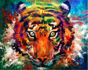 beibehang Custom art graffiti color tiger photo wallpaper decorative mural background for walls 3 d 3d