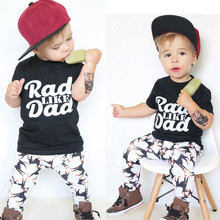 e9cfd82f5adee (Ship from US) Toddler Baby Kids Boy Summer Clothes Letter Print Tops Shirt  Pants Outfit Set Clothes Kids Hip Hop Clothing
