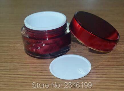 10G 10 ML 15G 15 ML Cor Vermelho Acr lico Jar com Tangente Ouro Frasco