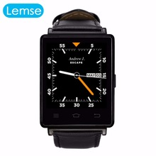 "D6 Bluetooth Smart Uhr MTK6580 Quad Core 1 GB 8 GB 1,63 ""3G Smartwatch Telefon Android 5.1 GPS WiFi BT 4,0 Pulsmesser"