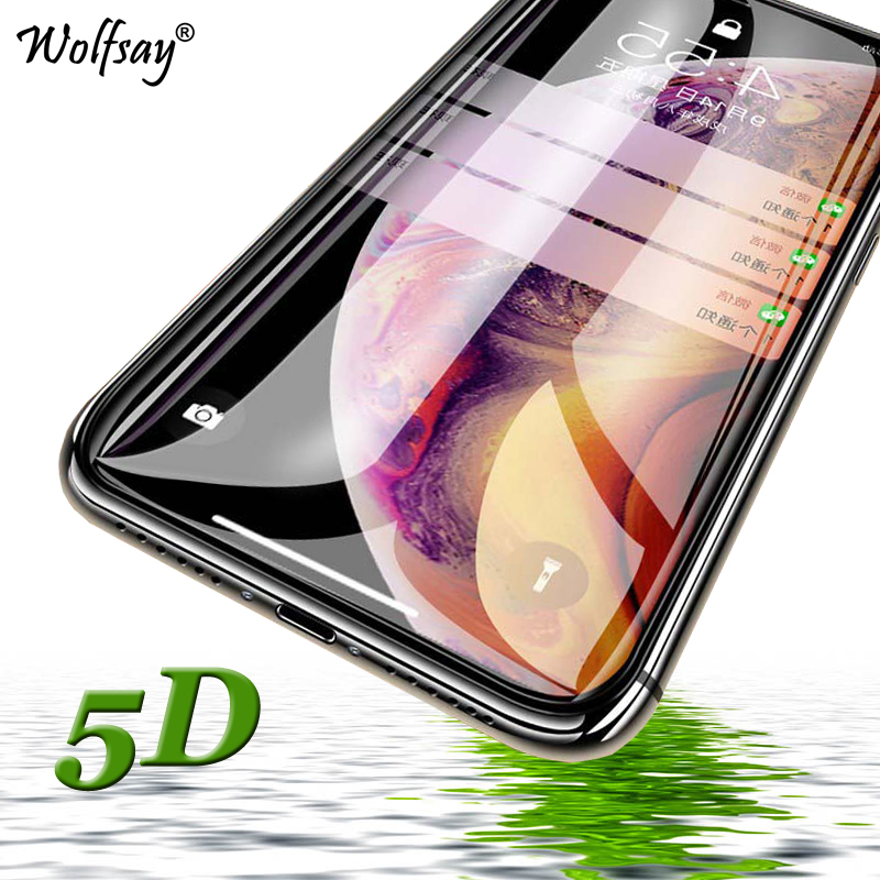 5D Full Glue Tempered Glass For iPhone XS Max Screen Protector For iPhone XS Max Full Cover Phone Glass For Apple iPhone XS Max