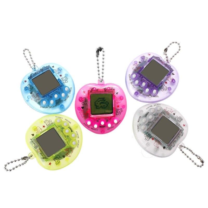 XINYUANSHUNTONG Cute Heart Shape LCD Virtual Digital Pet Electronic Game Machine With Keychain