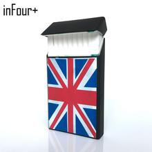 Black Flag 10.5*5.8*1.4CM Silicone Lady Slims Cigarette Case Smoking Accessories 20 Cigarettes Box Cigarette Holder Tobacco Box kuboy kc1 18 black brone 110g vintage style leather male 20 cigarettes case box smoking accessaries smoke box case