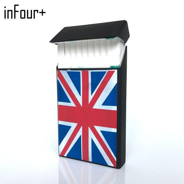 Black Flag 10.5*5.8*1.4CM Silicone Lady Slims Cigarette Case Smoking Accessories 20 Cigarettes Box Cigarette Holder Tobacco Box