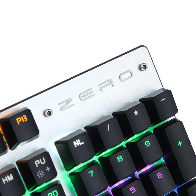 Metoo Asli Gaming Keyboard Keyboard Rusia Mekanis Keyboard 87 Tombol 104 Tombol USB Kabel Keyboard Biru/Merah/Hitam switch