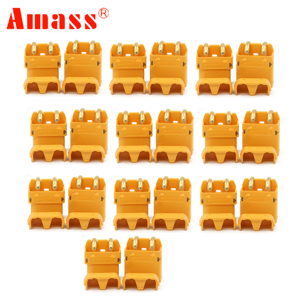 1 pair Amass XT60PW Plug Connector Male Female For Lipo font b battery b font RC