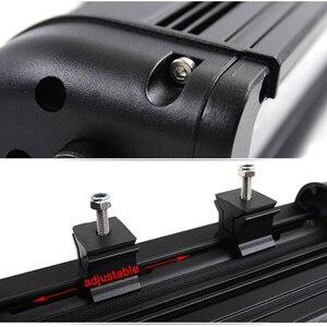 Image 4 - XuanBa 4D Objektiv 11 Inch 60W Led Arbeit Licht Bar Für Motorrad Atv Suv Lkw 12V Fahren Lampe 24V Spot Combo 40 4x4 Off Road Bar