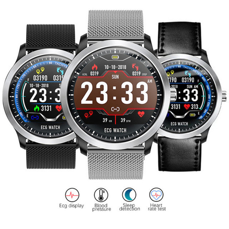 SIAJE N58 ECG PPG smart watch with electrocardiograph ecg display,holter ecg heart rate monitor blood pressure smartwatch