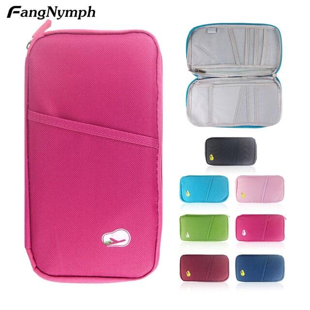 6724b48d7abf US $2.55 37% OFF|FangNymph Small Unisex Nylon Travel Document Wallet Ticket  Card Cash Passport Holder Pouch Women Men Portable Passport Bag-in Card &  ...
