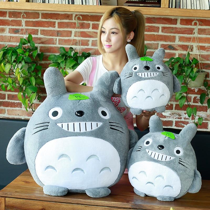 20-50cm My Neighbor Totoro With Leaf Plush Toy Kawaii Stuffed Animals Toy Anime Totoro Kids Doll Children Soft Cartoon Toy Gift