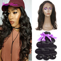 peruvian body wave with 360 frontal queen hair products wavy hair with closure pre plucked 360 lace frontal closure with bundles