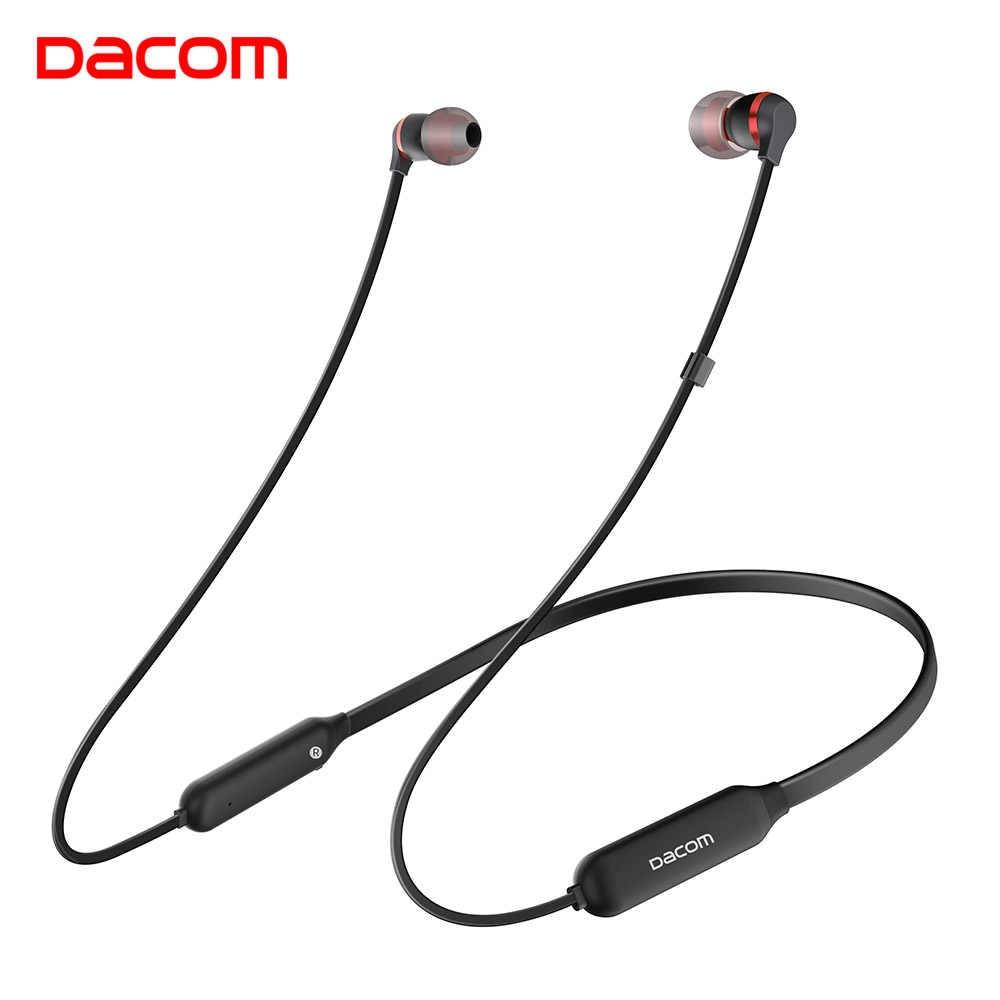 DACOM L06 Mini zestaw słuchawkowy bluetooth z pałąkiem na kark słuchawki stereo bezprzewodowe bezprzewodowe słuchawki douszne słuchawka z mikrofonem do biegania Sport