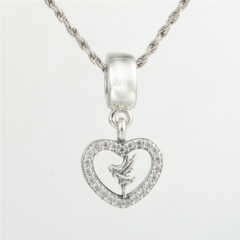 [Sponsored]Tinkerbell Fairy - Sterling Silver 925 Charm Bracelet Bead h0cpF0