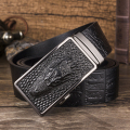2017 New Cowskin Genuine Luxury Design Alligator Leather Men's Belt Classic Strap Male Metal Automatic Buckle For Trousers Jeans