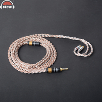 OKCSC 2 5MM Balanced Cable MMCX 8 Core DIY Replacement Cable Upgrade Wire Single Crystal Silver