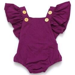 Baby girls dot romper newborn infant clothing girls summer spring cotton ruffle sleeve romper toddler jumpsuit.jpg 250x250